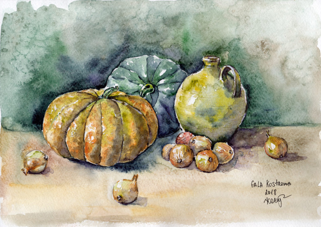 pumpkins and onions
