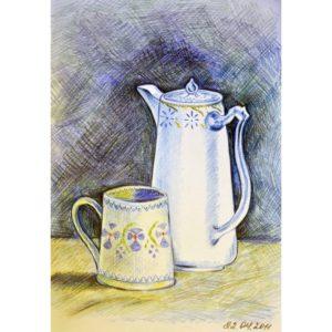Чайник и чашка