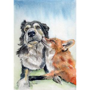 Лиса и пес друзья навек
