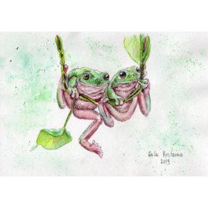 Лягушки на качелях