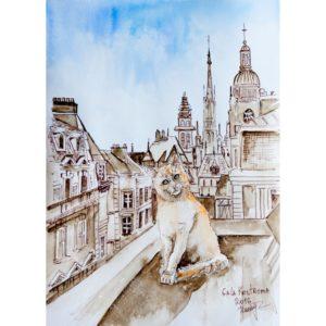 На крыше старого города
