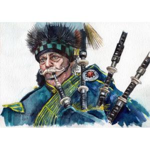 Старый шотландский воин