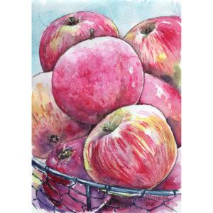 Розовые яблоки