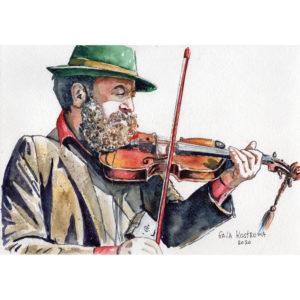 Уличный скрипач