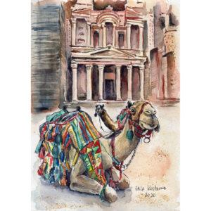 Верблюд, Петра, Греческий храм