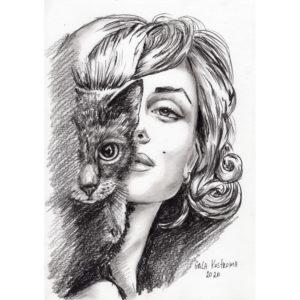 Мерилин и кошка