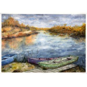 Осень. Лодки