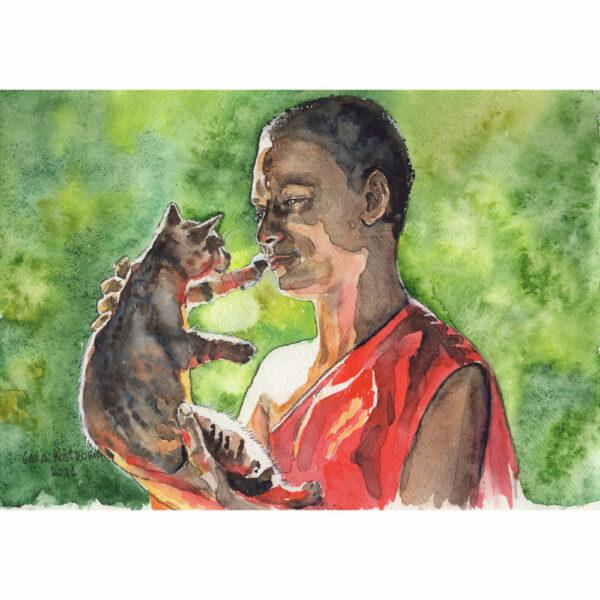 Монах и кошка